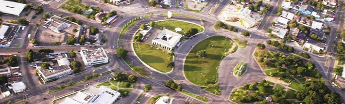 Cidade de Boa Vista, capital do Estado de Roraima. Planejada por Arthur Ferguson. Inspirada em Paris.