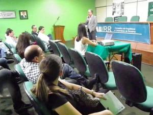 Palestra no auditório do SENAR/RR