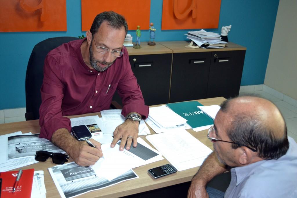 presidente Pedro Hees e conselheiro federal Luiz Afonso Maciel