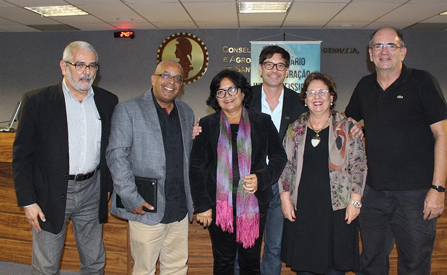 Perpétua Barbosa com os presidentes em Santa Catarina